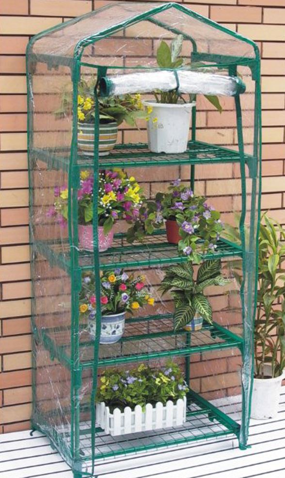 Nison 4 tier mini greenhouse with pvc cover - what shed.